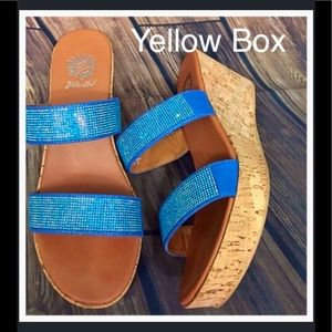 Yellow Box Shoes - Yellow box Sparkling Wedges