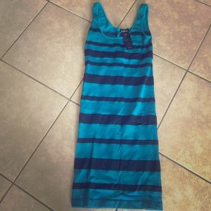 Teal and black stripped Bebe dress
