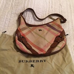 Burberry Larkin Spring Canvas Hobo
