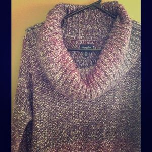 Cowl Neck Knitted Sweater