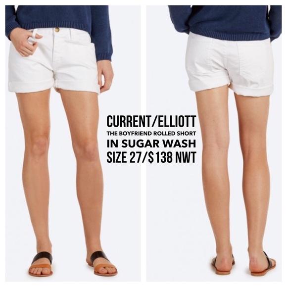 c0cff80d39 Current/Elliott Shorts | Currentelliott The Rolled Bf Short In ...