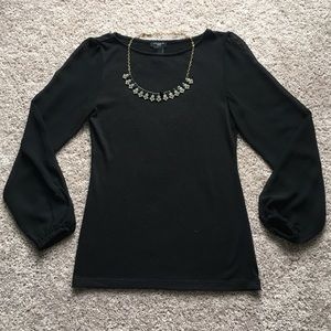 Ann Taylor Tops - Ann Taylor sheer sleeve sweater