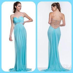 Terani Couture Dresses & Skirts - Terani Couture Aqua long prom dress size 4