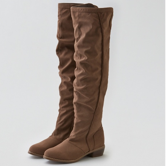 f3e4d590c99 New American Eagle Suede Over the Knee Boots - 6