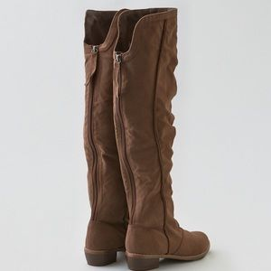 b702209b940 American Eagle Outfitters Shoes - New American Eagle Suede Over the Knee  Boots - 6
