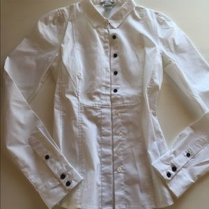 H M blouse button down work shirt