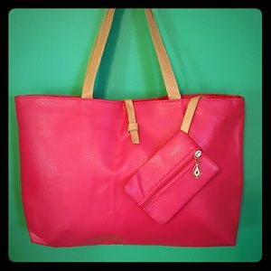 Gorgeous hot pink tote