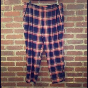 Cartonnier (Anthropologie) Slouchy Plaid Pants