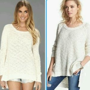 Free people pullover ivory sweater