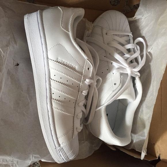 e79d3f9785a5 all white superstars  blue adidas superstar