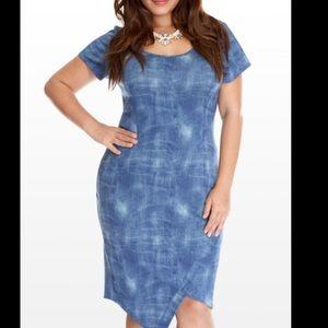 Fashion to Figure Dresses & Skirts - Ftf scuba denim dress