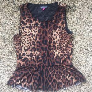 Vince Camuto Cheetah Print Top