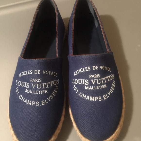 4f8d96bdb6d7dd Louis Vuitton Shoes - Louis Vuitton Espadrille Flats sz 8 women s LV
