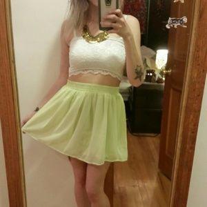 Neon green skirt 