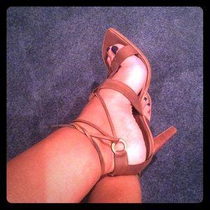 Cesare Paciotti Shoes - Dark brown sandal with tie ups. Cesare Paciotti