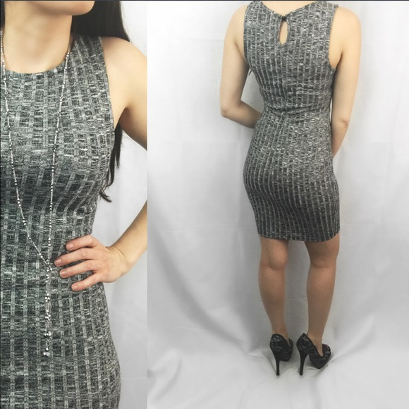 ValMarie Boutique Dresses - 🆕 Grey Ribbed Sleeveless Bodycon Dress