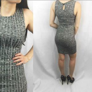 ValMarie Boutique Dresses - 🆕 Grey Ribbed Sleeveless Bodycon Dress