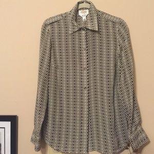 Talbots brown blouse