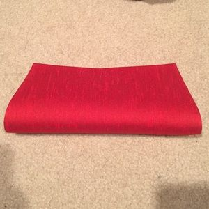 Handbags - Plain red fancy clutch