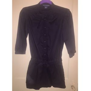 French Connection black long-sleeve romper