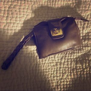 Bulga Handbags - Bulga Grey Leather Wristlet Purse