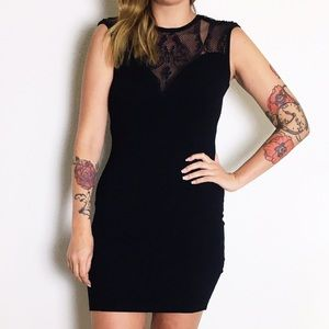 Guess Dresses & Skirts - Guess Black Sleeveless Sweater Dress with Lace