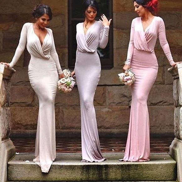 a94ea50dd4 Portia and Scarlett Dresses | Long Sleeve Gown Vicky | Poshmark