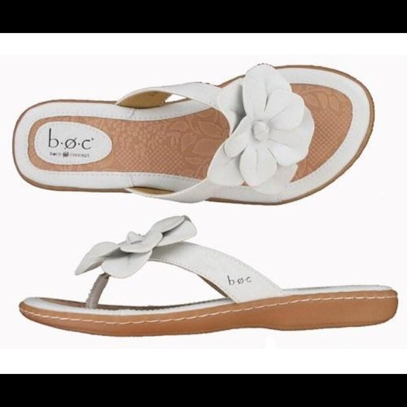 47 Off Born Shoes New Boc Concepts White Leather Flower