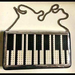 ❌SOLD❌ LES PETIT JOUEURS Piano Lego Disco Clutch