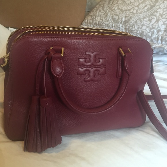 396eb0feabd Tory Burch Thea Small Rounded Double Zip Satchel