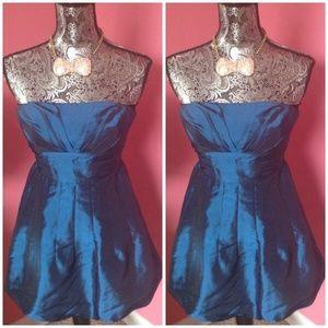 Dresses & Skirts - SATIN TEAL  BUBBLE SHORT PROM DRESS S