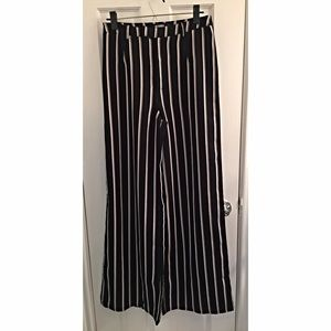 Missguided Wide Leg Stripe Pants