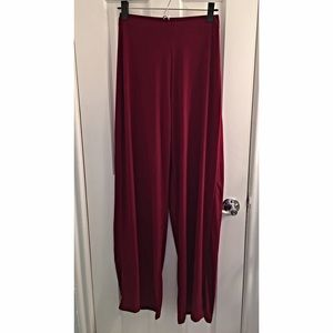 Missguided Wide Leg Burgundy Pants