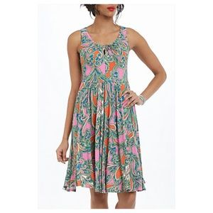Anthropologie Seaglass Keyhole Dress