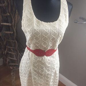 Cream crochet vintage dress