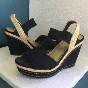 Wedge black upper 4 inches heel