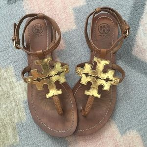 Tory Burch Shoes - Gold Logo Tory Burch Sandals