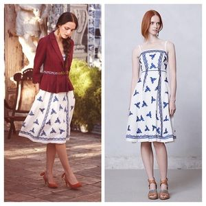 Anthropologie Lidia Embroidered Dress