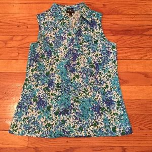 Talbots Tops - 🎉sale🎉Talbots shades of blue sleeveless top