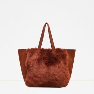 Zara leather tote (8835)