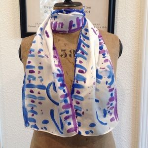 Accessories - Hand-Painted Silk Scarf