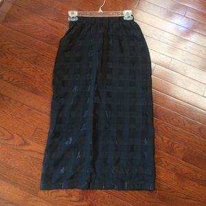 Motel High Waisted black skirt- worn once