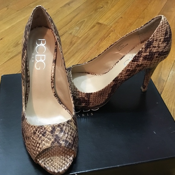 58 Off Bcbg Shoes Bcbg Snake Skin Heels From Kriszy S