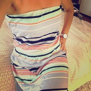 NWOT Striped & Strapless Maxi
