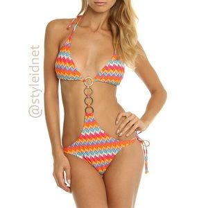 Other - Multi-Color Hipster Boho Cut Out Swimsuit