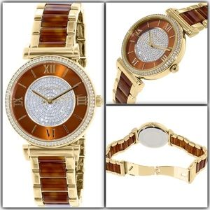 Michael Kors Accessories - Firm Authentic Michael Kors Caitlin Watch NWT