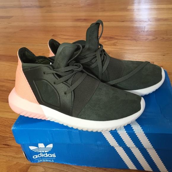 adidas tubular pink and green