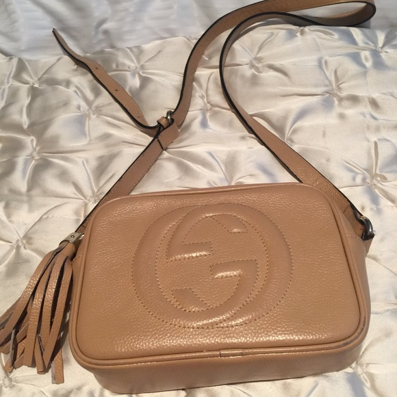 68b0bb15866 Gucci Handbags - Gucci soho disco crossbody nude