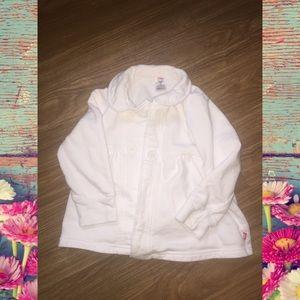 Zutano Other - Little girls 4t white Zutano button up coat