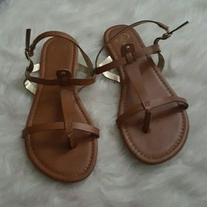 Cognac sandals